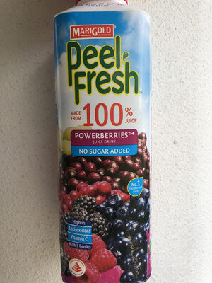 Peel Fresh No Sugar Added Juice Drink - Powerberries - Product