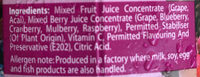 Peel Fresh No Sugar Added Juice Drink - Powerberries - Ingrediënten