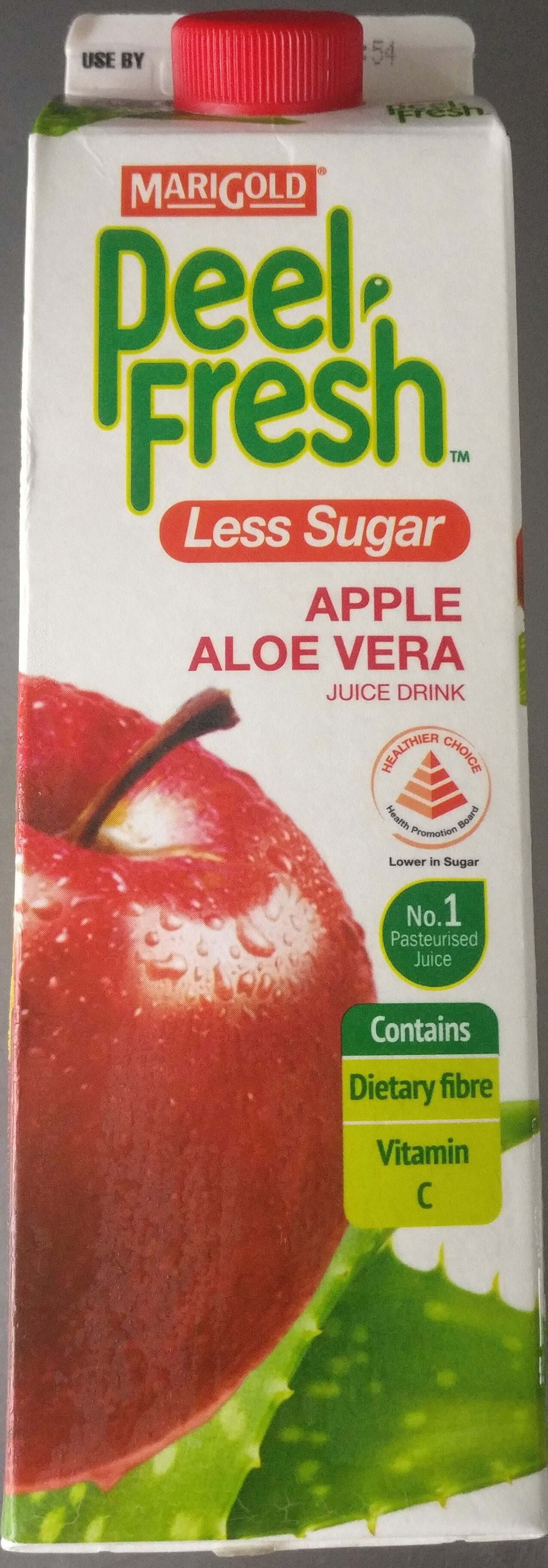 Peel Fresh Less Sugar Apple Aloe Vera Juice Drink - Product - en