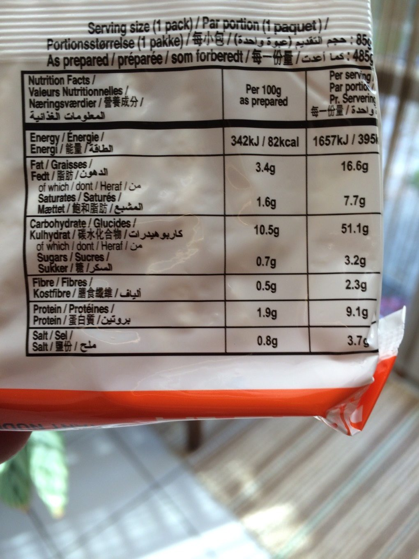 Instant noodles - Voedingswaarden - fr