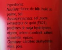 Koka Nudler I Kop M / Bøfsmag - Ingredients