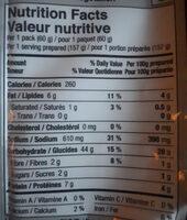 Purple Wheat Noodles (Chilli & Lime Flavor) - Informations nutritionnelles - en