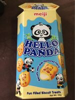 Meiji Hello Panda Biscuit With Milk Flavour Filling - Prodotto - fr