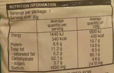 Vegetarian Mushroom Flavour - Informations nutritionnelles - en