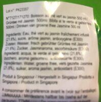 Thé Vert Au Jasmin En Bouteille - Ingredients - en