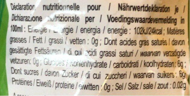 Thé Vert Au Jasmin En Bouteille - Nutrition facts - en