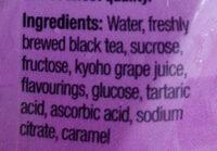 POKKA Grape Tea - Ingrediënten - en