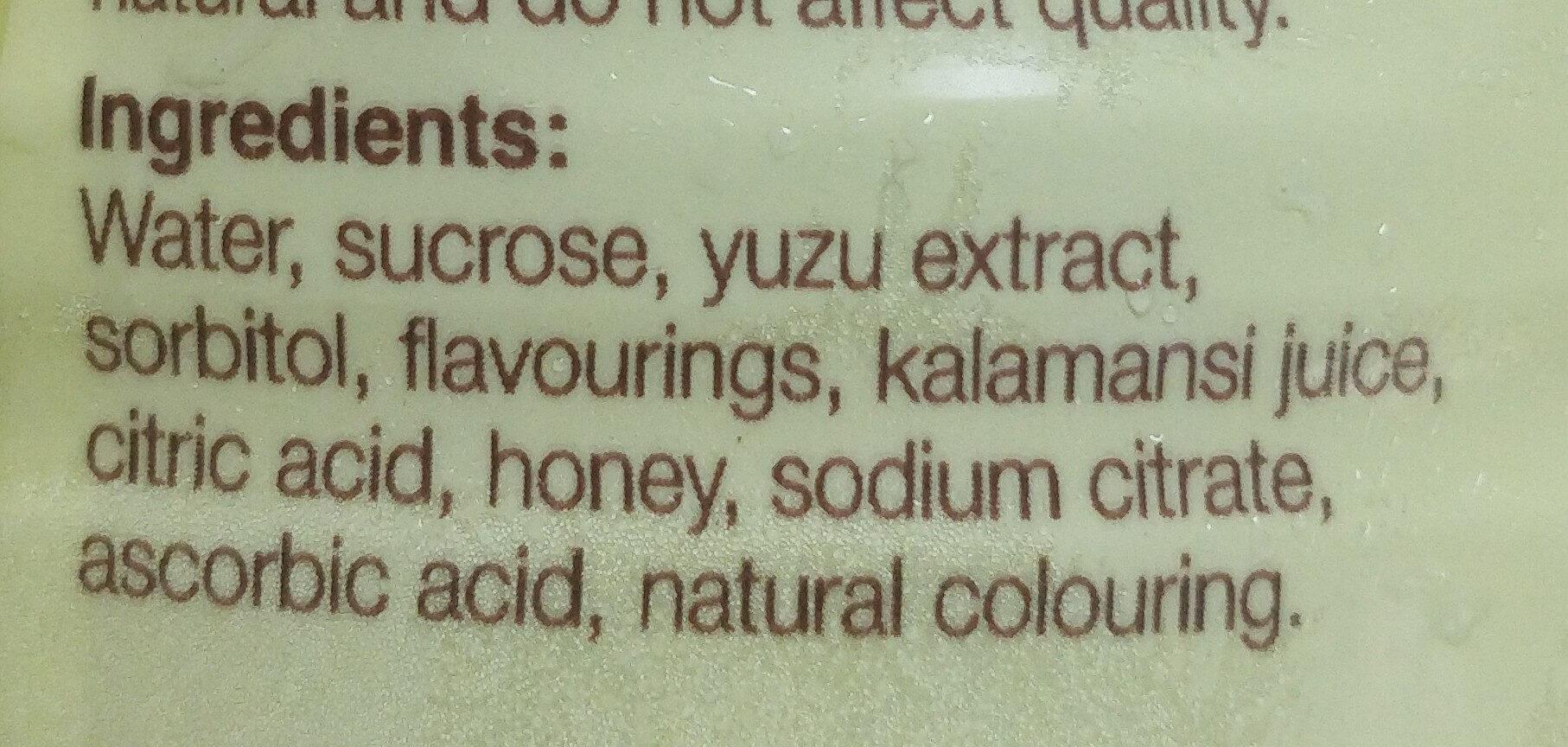 The glacé citron miel - Ingrediënten - en