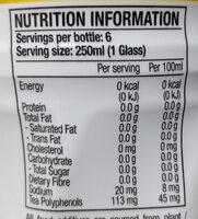 Houjicha - Voedingswaarden - en