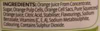 Orange Juice - Ingrediënten - en