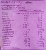 Berries Mixed Juice Drink with Organic Chia Seeds - Nutrition facts
