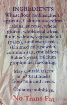 Fruit & Nut Loaf - Ingredients - en