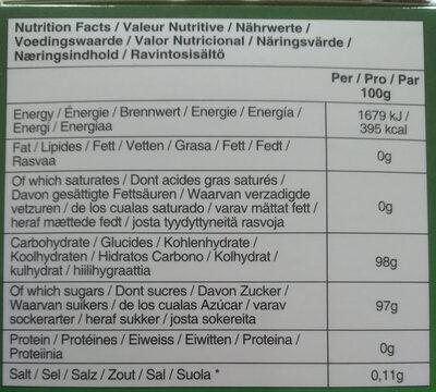 Boisson instantanée au Gingembre et au Miel - Nutrition facts - fr