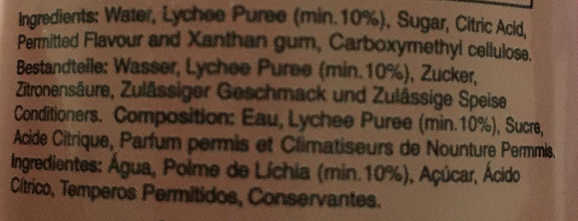 Sagiko Lychee Drink - Ingrédients