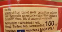 Huile De Sésame 150 ml - Ingrédients - fr