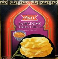 Papadums Green Chili - Produit - fr