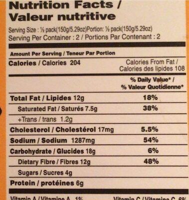 MTR Dal Makhani Black Lentil Curry - Nutrition facts - en