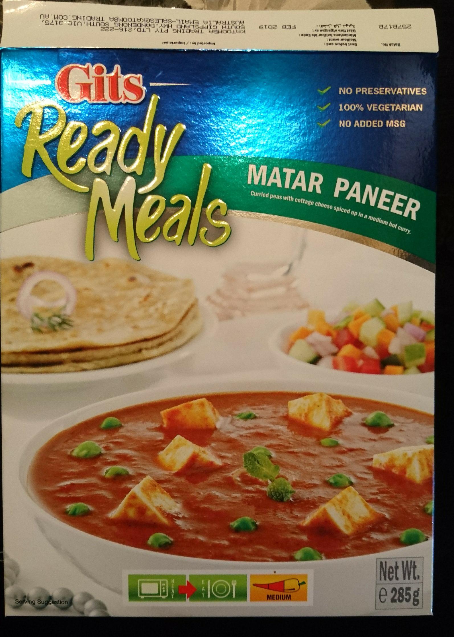 Matar Paneer - Product