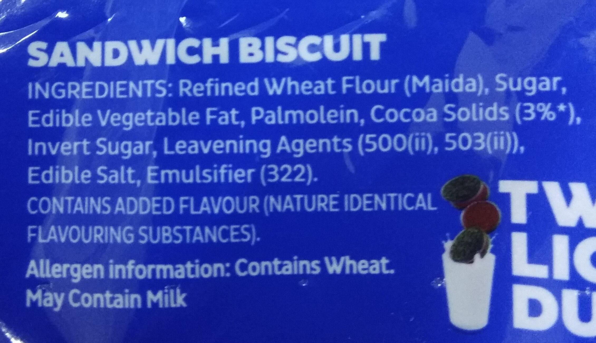 Cadbury Choco Creme Oreo - Ingredients - en