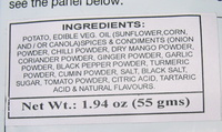 Lay's India's Magic Masala - Ingredients - en