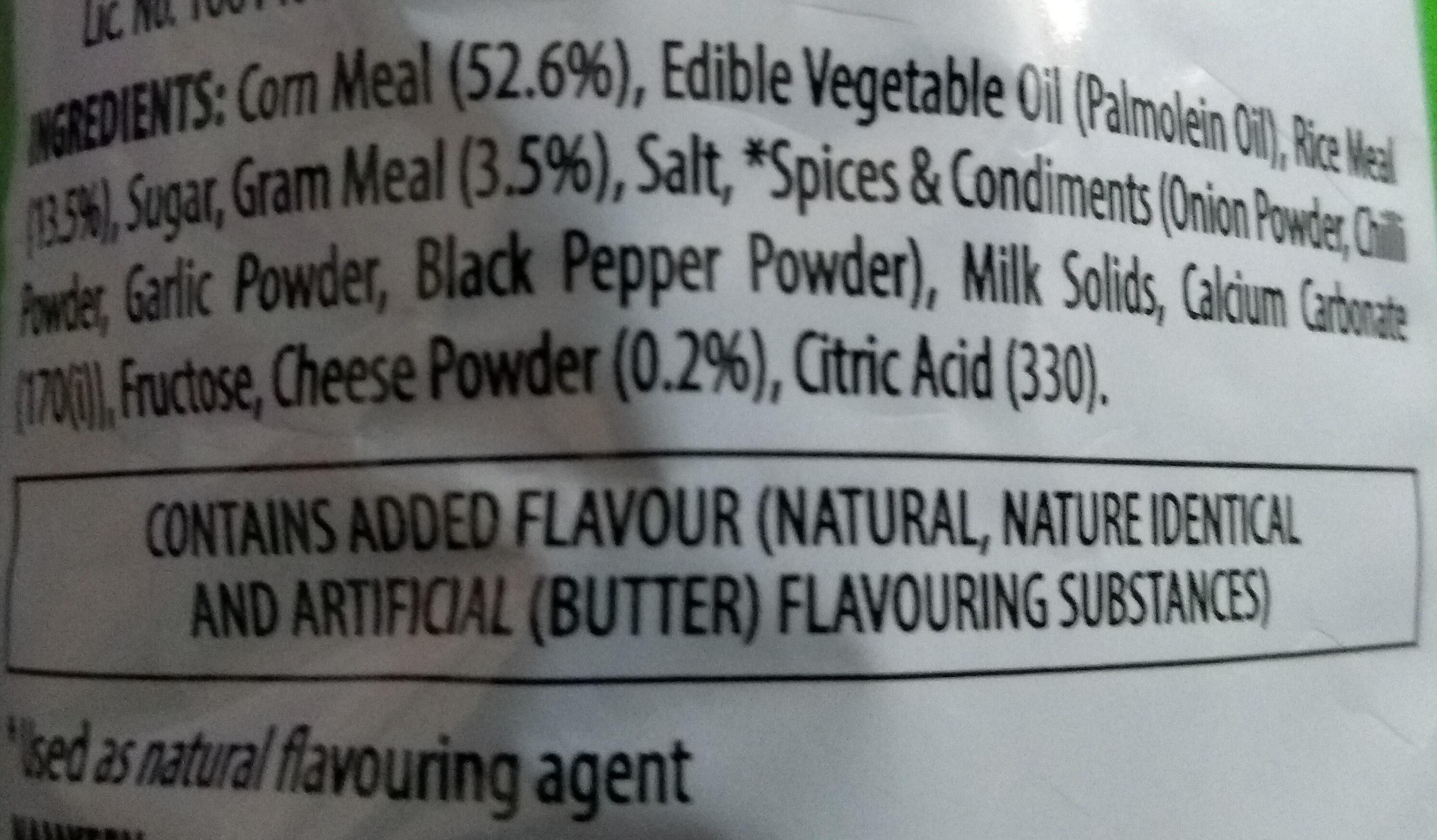 Puffcorn Yummy Cheese - Inhaltsstoffe - en