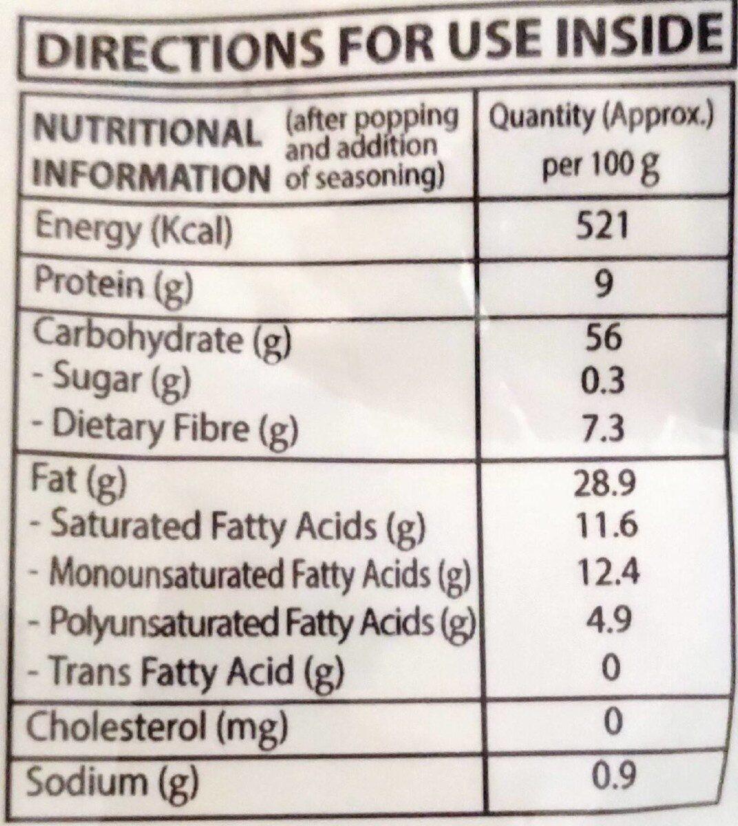 act2 popcorn - Nutrition facts - en