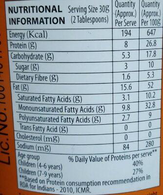 Sundrop Peanut Butter - Nutrition facts