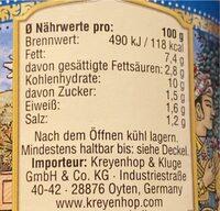 Tikka masala sauce - Nährwertangaben - de