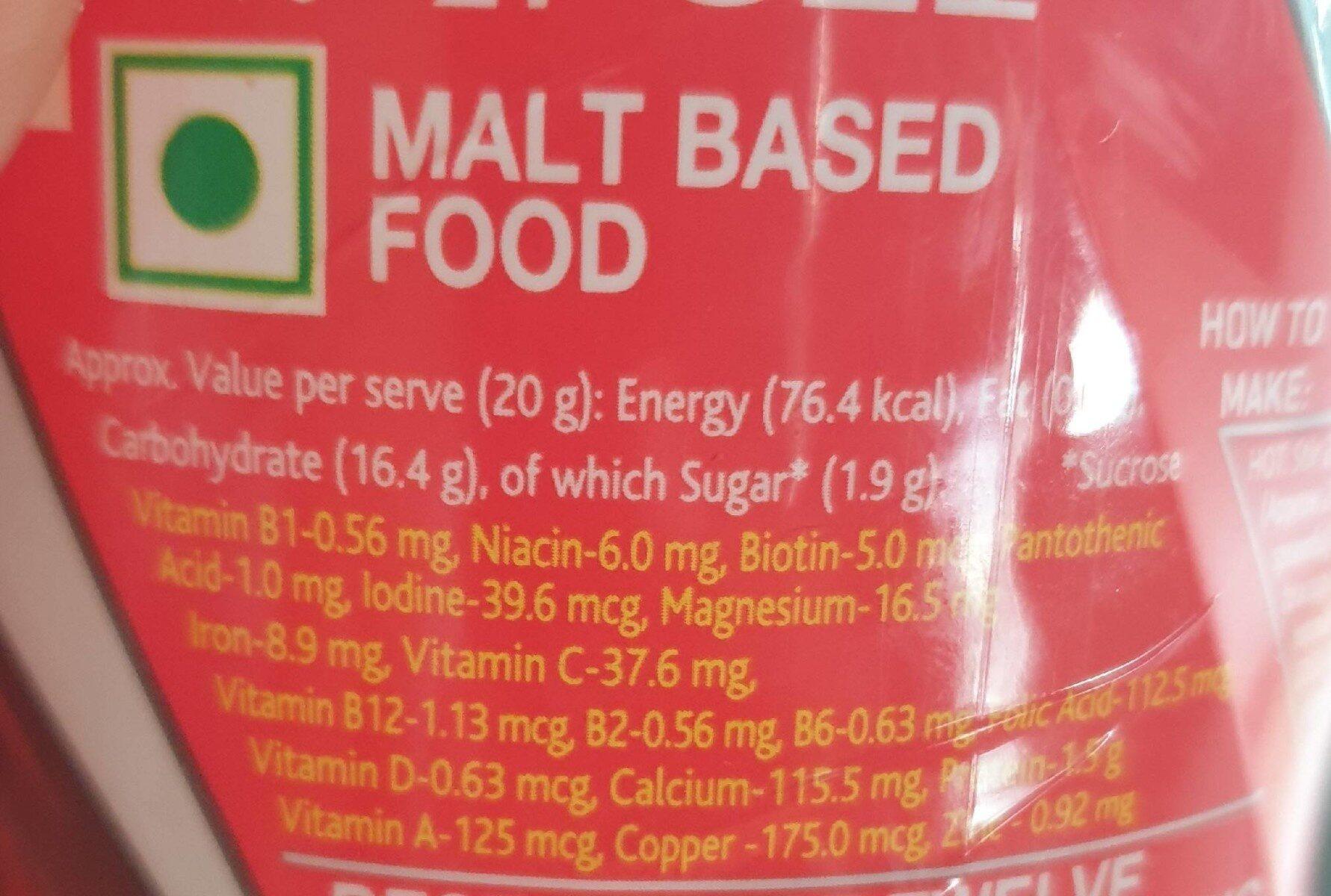 Boost Plain - Nutrition facts - en