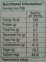 Hot & Sour Soup - Nutrition facts - en
