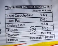 Biscuits Parle-G - Informations nutritionnelles - fr