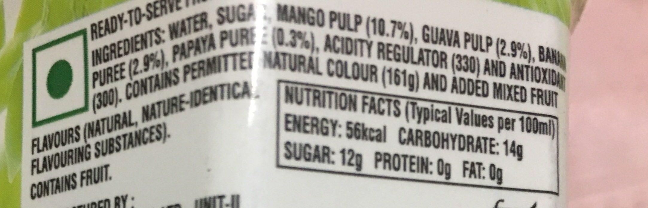 Mixed Fruit - Ingredienti - en