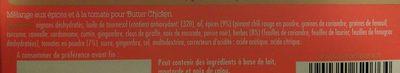 Concentré de saveurs pour Butter Chicken - Ingrediënten
