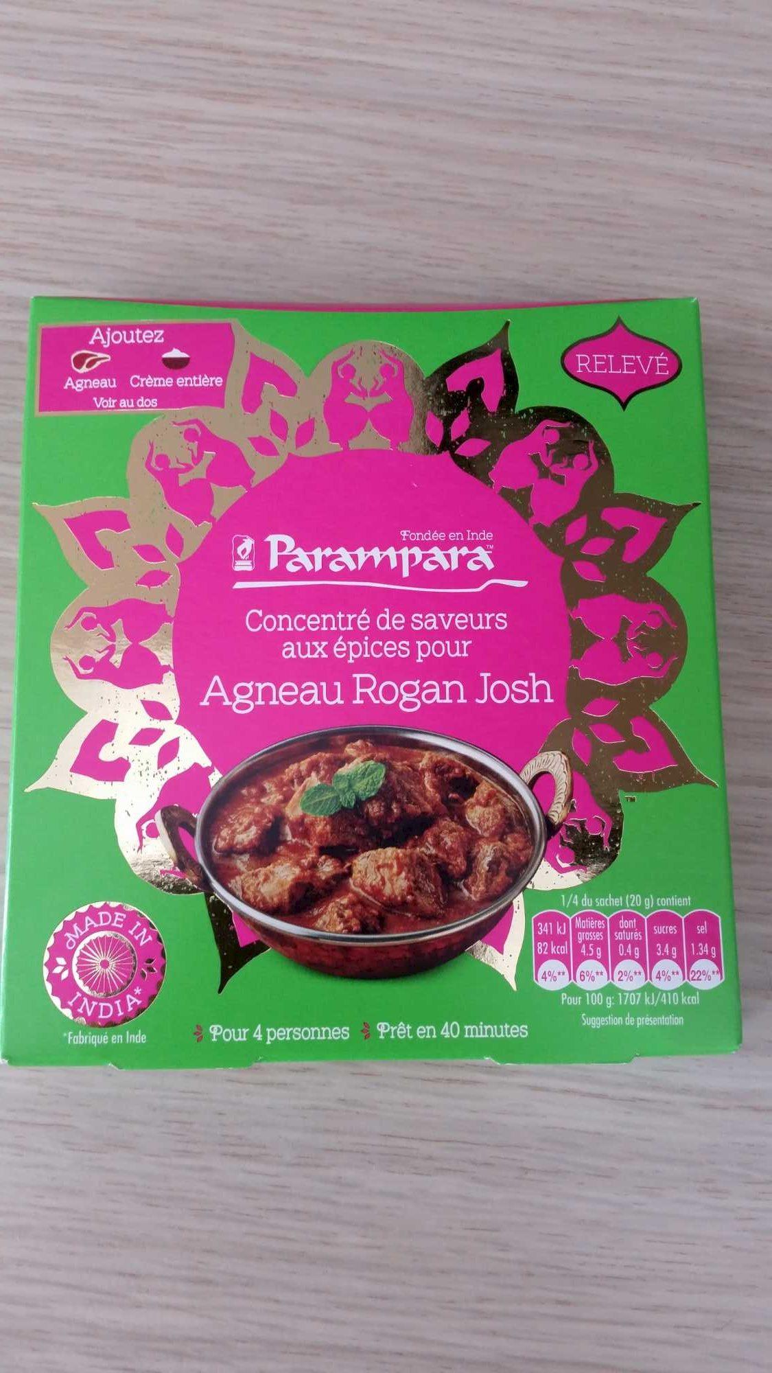 Concentré de saveurs aux épices pour agneau rogan josh - Product