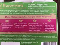 Concentré de saveurs aux épices pour agneau rogan josh - Ingrediënten