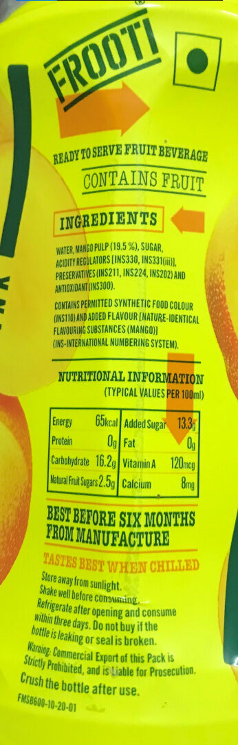FROOTI - Recycling instructions and/or packaging information - en