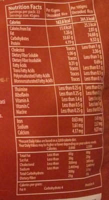 Brown Basmati Rice - Nutrition facts - en