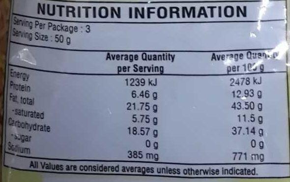 Bhujia Sev - Nutrition facts - en
