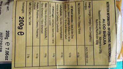 Aloo Bhujia - Voedingswaarden - en