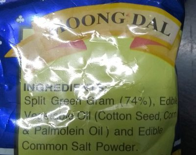 Haldiram's Moong Dal - Ingredients - en