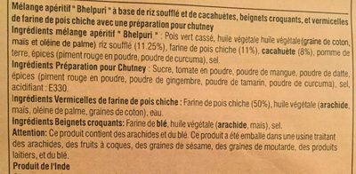 Haldiram Bhel Puri - Ingredients