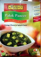 Palak Paneer Cottage Cheese in Spinach Sauce - Just Heat and Eat - Product - en
