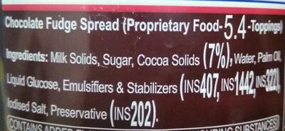 Fun Foods Chocolate Spread Fudge - Ingredients - en