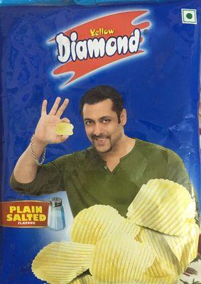 Plain salted potato chips - Produit - en