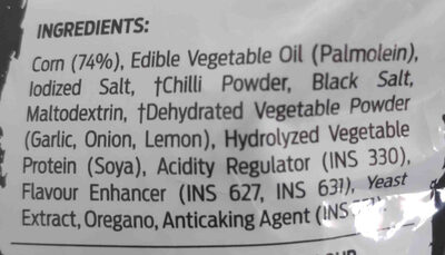 balaji wafers flamin hot - Ingredients - en