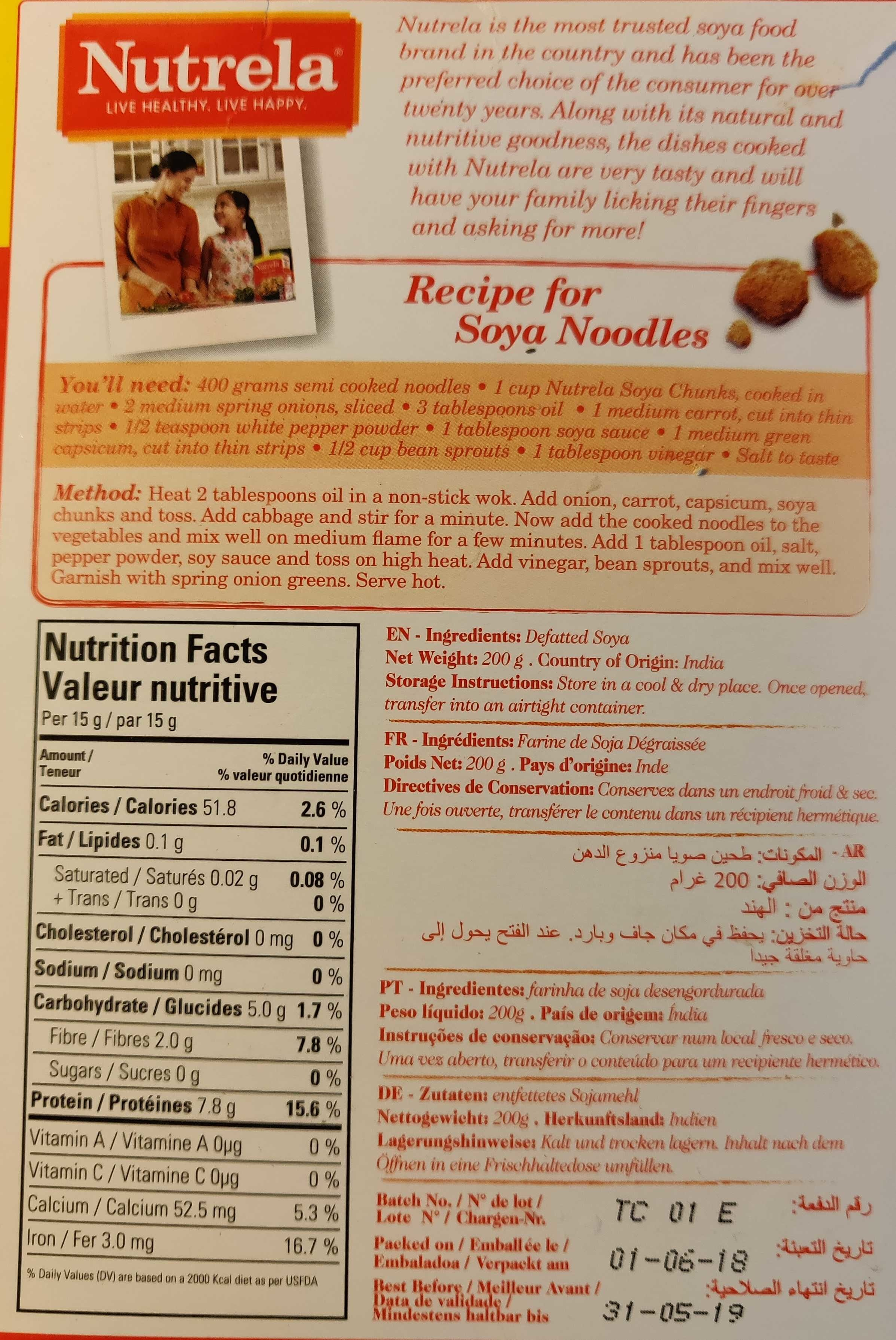Soya Chunks - Informations nutritionnelles