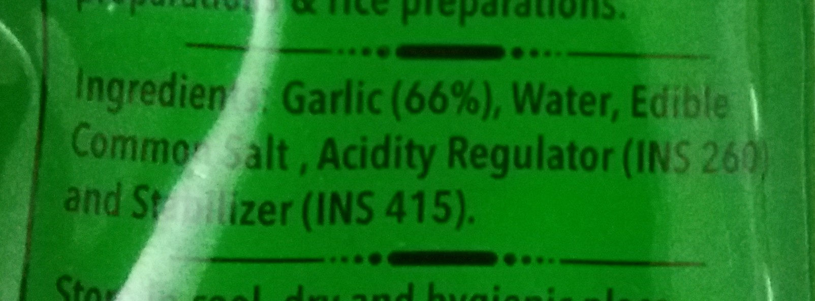 Garlic Paste - Ingredients - en