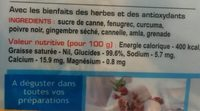 Diabliss Sucre De Canne - 500 G - Diabliss - Voedingswaarden - fr