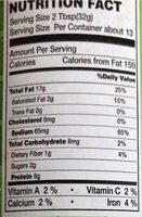 MARCO CRUNCHY PEANUT BUTTER - Nutrition facts - en