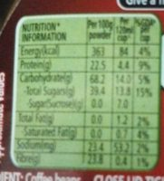 Nescafe Classic Pure Coffee Powder - Nutrition facts